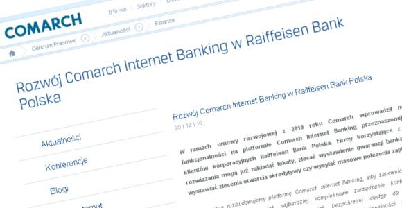 Rozwój bankowości internetowej w Raiffeisen Bank Polska