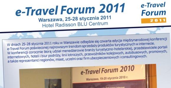 Zbliża się międzynarodowa konferencja turystyczna e-Travel Forum 2011