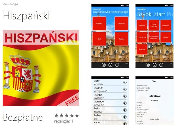 Hiszpański za darmo na Windows Phone od Tweeba